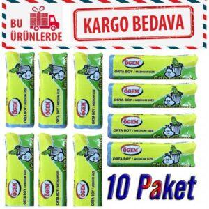 Ögem Orta Boy Çöp Poşeti ( 55 X 60 cm ) 20 li X 10 Paket