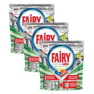 Fairy Platinum Plus Bulaşık Makinesi Deterjanı Kapsülü 60 Yıkama*3 180 Yıkama