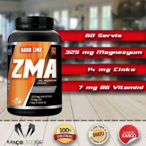 Hardline ZMA 180 Kapsül Magnezyum, Çinko, Vitamin B6 TAKSİTLİ SATIŞ KAS YAP YÜKSEK HAMMADDE KALİTESİ