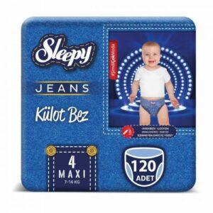 Sleepy Jeans Külot Bez 4 Beden 120 Adet
