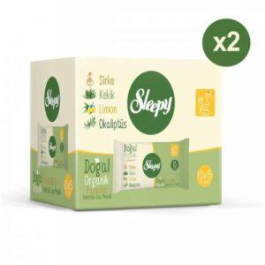 Sleepy Doğal Organik Pamuklu Cep Mendilli 300 Yaprak (20X15)