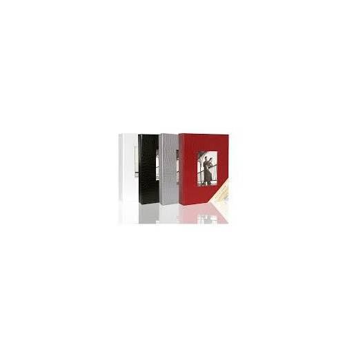 15x21 cm 200'lük Deri Fotoğraf Albümü Gri ACR 14LPP68200