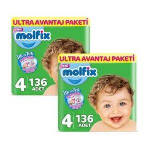 Molfix Ultra Avantaj Paketi 4 Beden 136 Adet