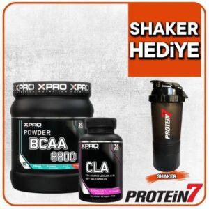 Xpro Bcaa 8800 Powder 429gr + Xpro Cla 90 Kapsül + Shaker