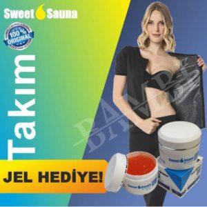 Sweet Sauna Takım(KAMPANYALI) Yarım Kol (Fermuarlı)+Tayt+Jel Termal Terleme Takımı