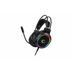 Rampage RM-K12 MANLY Siyah 7.1 Surround USB RGB Işık Efektli Gaming Oyuncu Mikrofonlu Kulaklık