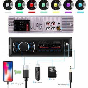 SUNAKS MNY-03 Oto Teyp Araba Teyp Radyo Bluetooth+2 Çift Usb/Sd/AUX+TELEFON ŞARJ VE USB PLAYER GİRİŞ