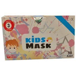 Kgt Kids Mask 3 Katlı Cerrahi Erkek Çocuk Maskesi 50 Adet