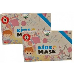 Kgt Kids Mask 3 Katlı Cerrahi Erkek Çocuk Maskesi 50 Adet x 2 Adet