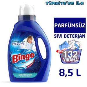 Bingo Parfümsüz Sıvı Performans Çamaşır Deterjanı 2145 ml Ekonomi Paketi 4'lü