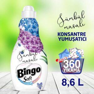 Bingo Soft Konsantre Çamaşır Yumuşatıcısı Sümbül Masalı 1440 ml Ekonomi Paketi 6'lı