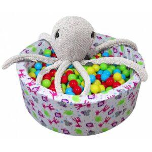 Babyplay Katlanabilir Top Oyun Havuzu - Oyun Halısı - Sünger Oyun Alanı - 200 Adet Top Hediye - 6ht