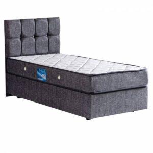 Baza , Londra Baza + Başlık + Comfort Yatak Seti Tek Kişilik Gri 90x190