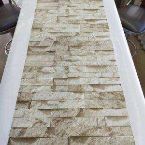 3 Boyutlu Taş Tuğla Desenli Duvar Kağıdı (5m²) - Tutkal Hediyeli - 9300