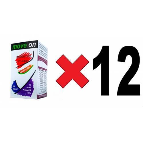 Move On Probiyotik (12 ADET) 10 Milyar + Prebiyotik 30 Kapsül SKT: 2024