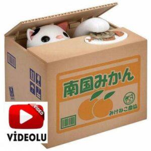 Para Yiyen Kedi Kumbara  Hırsız Banka Hediyelik Hırsız Kedi Kumbara