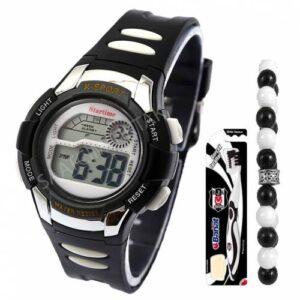 Taraftar BJK4 Full Fonksiyonlu Çocuk Kol Saati-Alarm-Kronometre-Işık