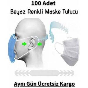100 Adet Beyaz Renk Maske Tutucu Aparat Kulak Koruyucu Maske Tutma Aparatı Maske Tutturucu Toka