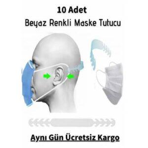 10 Adet Beyaz Renk Maske Tutucu Aparat Kulak Koruyucu Maske Tutma Aparatı Maske Tutturucu Toka Klips