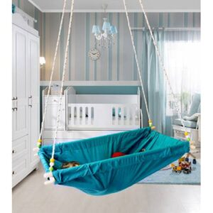 Altev Ahşap Yaylı Zıpzıp Hamak Beşik Hoppala Tavana Asılan Salıncak Bebek Yatağı İskota Halatlı