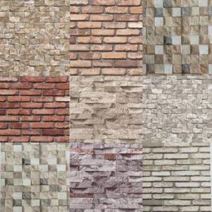 3 Boyutlu Taş Tuğla Desenli Duvar Kağıdı (5m²) - Tutkal Hediyeli *
