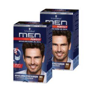 Schwarzkopf Men Perfect Saç Boyası 80 - Kahve Siyah X 2 Adet