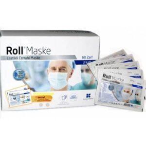 ROLL Cerrahi Maske 5'li Paket Cerrahi 3 Katlı Lastikli Maske 60 Paket - 300 Adet