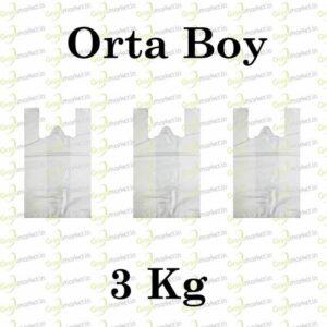 Atlet Poşet Beyaz 28x50 Orta Boy 3 Kg