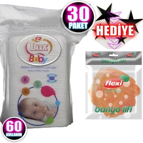 Lux Bebek Temizleme Pamuğu 60'lı
