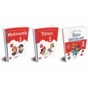 Kırmızı Beyaz 1. Sınıf 2. Dönem Türkçe Matematik Ödev Testleri Set