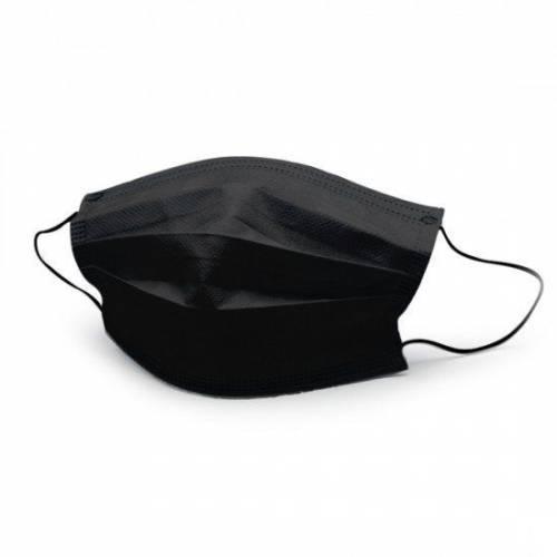 100 Adet CEREMİO TİP-2R MELT-BLOWN SİYAH Full Ultrasonik Cerrahi Maske CE - İSO - EN ve ÜTS Belgeli