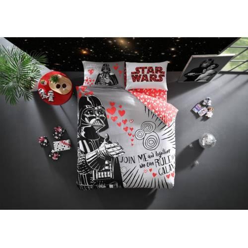 Taç Lisanslı Star Wars Valentines Day Çift Kişilik Nevresim Takımı