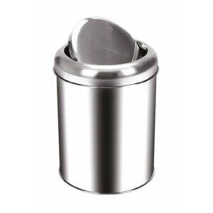 Palex Krom Pratik Kapaklı Çöp Kovası 5 Lt