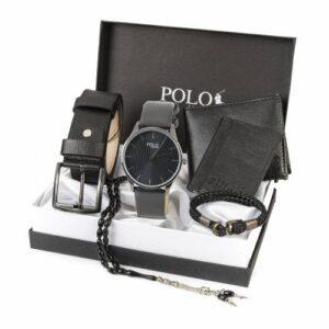 Polo London Erkek Set Saat,Kemer,Cüzdan,Kartlık,Bileklik,Tespih 4 RENK YNSZ-803