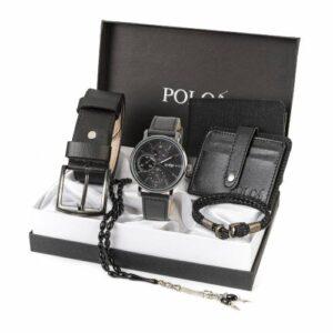 Polo London Erkek Set Saat,Kemer,Cüzdan,Kartlık,Bileklik,Tespih 4 Renk YNSZ-804