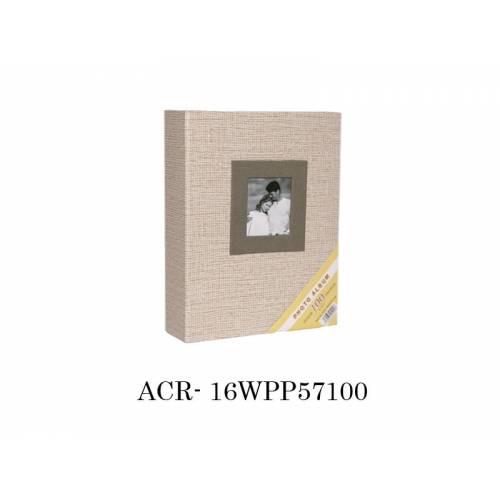 13x18 cm 100'lük Koton Desenli Fotoğraf Albümü Krem ACR 16WPP57100