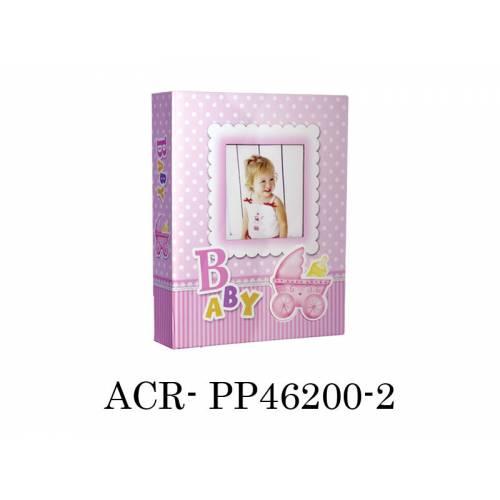 10x15cm 200 Lük Bebek Fotoğraf Albümü Pembe / ACR-PP46200-2