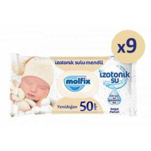 Molfix İzotonik Sulu Yenidoğan Islak Havlu 50'li