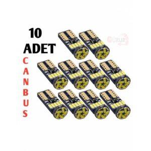 10 ADET T10 led ampul park led plaka led tavan led 15 LEDLİ 12V 5W beyaz canbus led