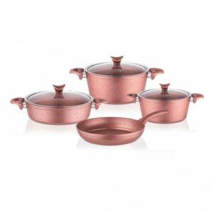 Taç 3457 Master Cook 7 Parça Granit Tencere Seti Rose Gold