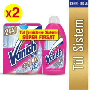 Vanish Gold Tül Temizleyici Set (Toz 450gr+ Parlatıcı 450ml) X2