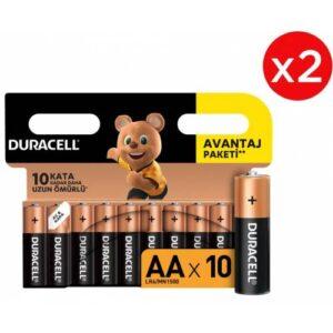 Duracell Basic Kalem Pil 20'li AA