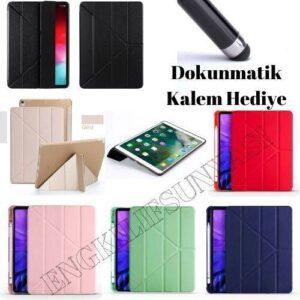 Samsung Galaxy Tab S6 Lite P610 Tablet Kılıf Tam Koruma 2 Farklı Standlı Katlanır PU Silikon Kapak