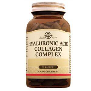 SOLGAR Hyaluronic Acid Collagen Complex 120mg 30 Tablet KOLAJEN Hyaluronik Asit