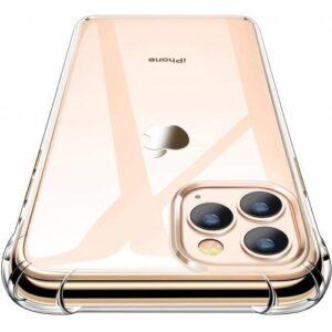 For iPhone 11 Pro Max Köşeleri Korumalı Anti-Droop Sert Şeffaf Kapak (FG10R)