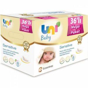 Uni Baby Sensitive Islak Havlu 36'lı - 2016 Yaprak