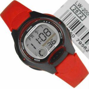 Casio Unisex Kol Saati LW-200-4AVDF Red-Black Serisi 10 Yıl Pil Ömrü 2 Yıl Garanti Belgeli Faturalı