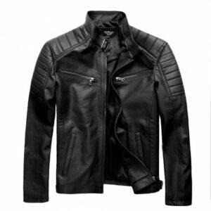 2020 Season Premium Erkek Slim Fit Kesim Deri Mont Jacket tok36