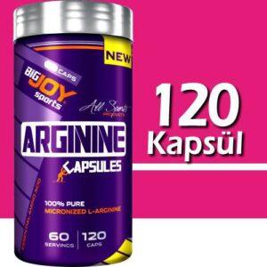 BigJoy Sports Arginine Arg 120 Kapsül 60 Servis Ücretsiz Kargo Big Joy