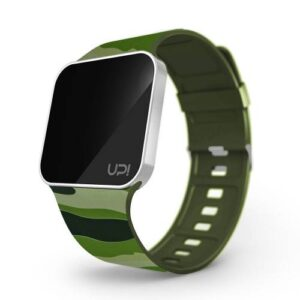UPGRADE MATTE SILVER&GREEN CAMOUFLAGE